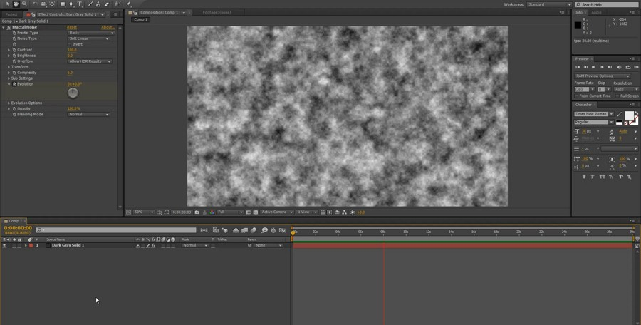 Fractal noise in After Effects