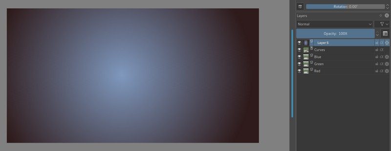 Gradient filter in Krita
